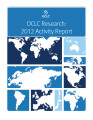 OCLC Research 2012 activity report